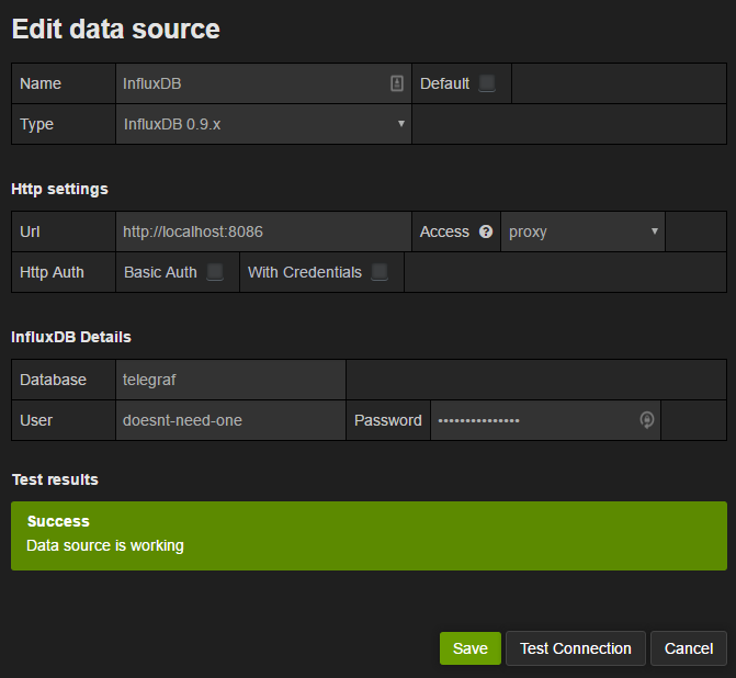 Configure Grafana Data Source