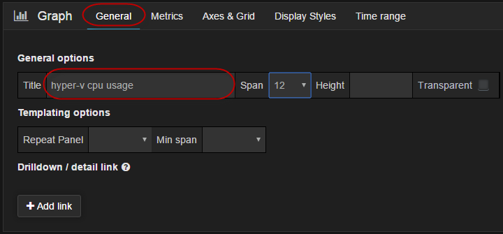 Configure Grafana Graph Name