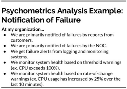 how is your organization notified of failure