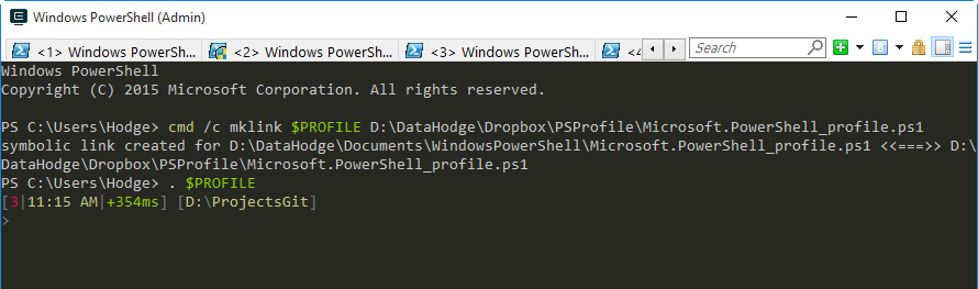 Symlink to PowerShell Profile