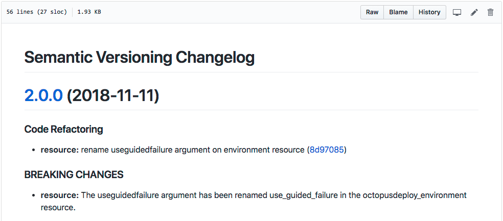 CHANGELOG.md Example