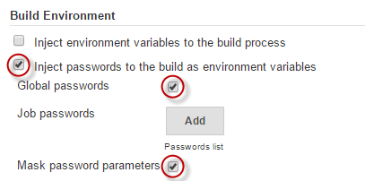 Jenkins Inject Passwords as Environment Variables