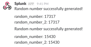 Slack alert with log values