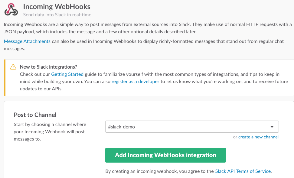 Slack Custom Webhook Integration