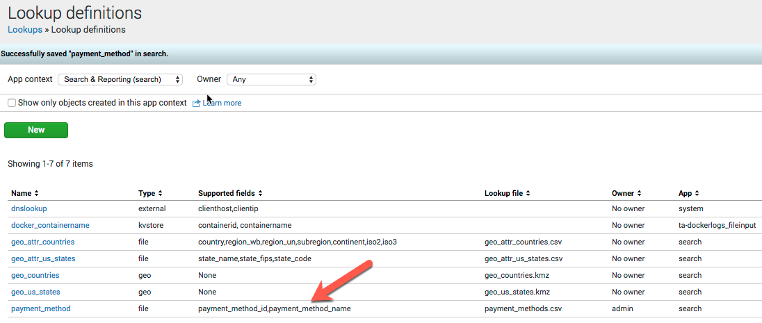 Splunk Supported Fields from CSV