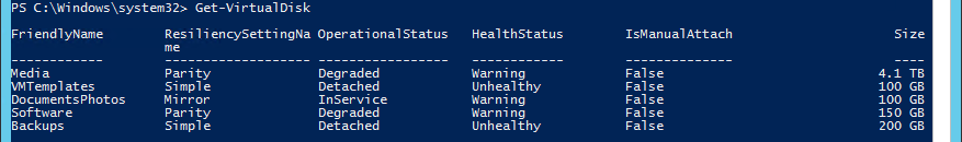 Replacing a Failed Disk in Windows Server 2012 R2 Storage
