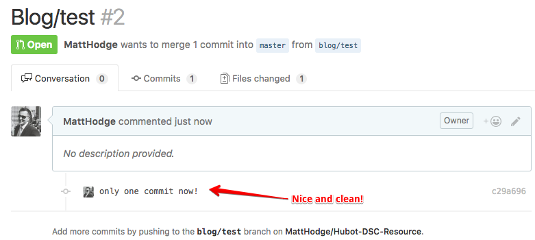 clean pull request